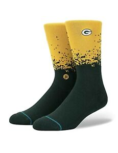 Green Bay Packers NFL Stance Fade Crew Socks Size Large New Fast Shipping