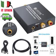 DAC audio da digitale ad analogico RCA l/R 3.5mm uscita stereo con cavo ottico
