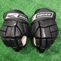 """Pair of Nike Bauer Vapor XVI Dri-fit Hockey Gloves SR 14"""" Senior - Black"""