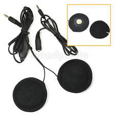 Motorcycle Helmet Interphone Intercom Mic Headphone Speaker Headset for MP3 iPod