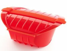 Lékué DEEP STEAM CASE 3-4 Person 1000ml VEGETABLE STEAMER Silicone RED Lekue