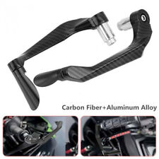 Pair Carbon Fiber Aluminum Alloy Motorcycle Brake Clutch Lever Handlebar Protect