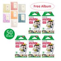 50 Prints Fujifilm Instax Mini Instant Plain Film for Fuji 8 7S 50S 90 25 Camera