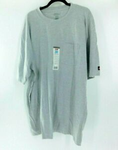 Dickies Men's T-Shirt Short Sleeve Cool & Dry Pocket Tee 2XL Tall Gray