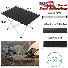 Portable Picnic And Camping Side Tables With Aluminum Table Top Carry Bag Hiking