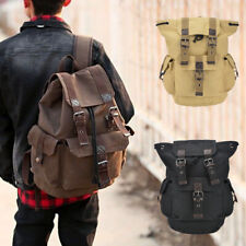 Mens Lady Vintage Canvas Backpack Satchel Rucksack School Travel Camping Bag
