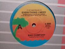 "Bad Company ""Everything I Need"" 1977 ISLAND Oz 7"" 45rpm"