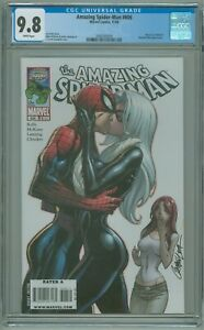 Amazing Spider-Man # 606 CGC 9.8 NM/MT J Scott Campbell Black Cat Cover 2009