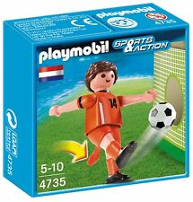 PLAYMOBIL 4735 NETHERLANDS FOOTBALL / SOCCER PLAYER NEW BOXED!