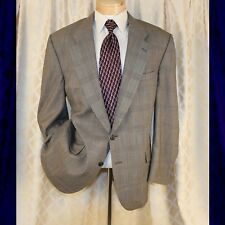 BURBERRY [Vintage] Light Beige with Blue Red Check Plaid Men Blazer Coat Jacket