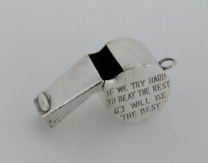 Vintage Tiffany Co. Sterling Silver Whistle Engraved - Item S289