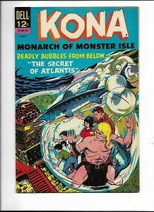 """Kona, Monarch of Monster Isle 21 VFNM (9.0) """"Secret of Atlantis!"""" Last issue!"""