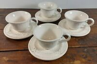 Set of 4 Coffee Cups Saucers American Atelier At Home Baroque Ironstone 5286