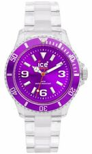 ice-watch cl.pe.u.p.09 damen klassische collection purple dial clear quarzuhr