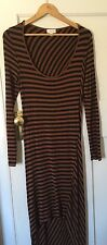 Witchery size 12 Brown and Black Striped Dress