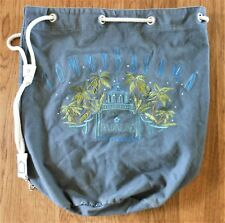 Tommy Bahama Cotton Duffel Hotel Paradise Suite Dreams Grey Zip Pocket on Back