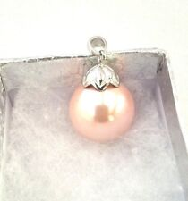 Large Pink Pearl Pendant - Glass