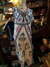A. CALIN LOS ANGELES Pretty Moo Moo Dress Size S