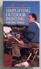 SIMPLIFYING OUTDOOR PAINTING with john stobart    VHS VIDEOTAPE