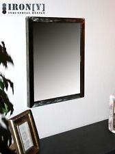 Rechteckiger Spiegel Wandspiegel Industrial Vintage Chic Metall 52x42 (50x40)