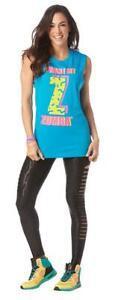 Zumba Fitness I Want My Zumba Muscle Tank - Blue