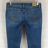 Aeropostale Bayla Skinny womens size 2S stretch blue medium wash denim jeans