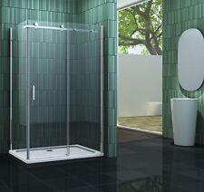 TECHNO 120 x 90 x 195 cm Glas Duschkabine Dusche Duschwand Duschabtrennung