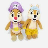 Disney Chipmunks Chip And Dale Plush Pirates Mickey Mouse club Stuffed Animal