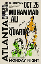 Muhammad Ali vs. Jerry Quarry Site Poster 1970 Large Format 24x36