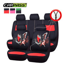 Universal Car Seat Cover Auto Seat Covers Red Black 40/60 50/50 60/40 Front Rear