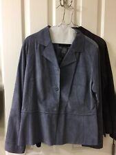 BRANDON THOMAS Leather Suede Denim (Blue) Brown Lot of 2 Jackets Size Large L