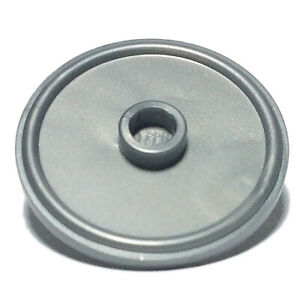 NEW LEGO - Shield - Round Flat Silver round Stud x 1 - 10243 10251