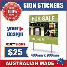 Custom Digitally Printed Sign Sticker 900mm wide x 400mm high