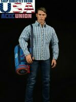 "1/6 Captain America Shirt Jeans Bag Clothing Set For 12"" Hot Toys Male Figure"