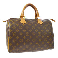 LOUIS VUITTON SPEEDY 30 HAND BAG MONOGRAM CANVAS LEATHER M41526 BT16379f