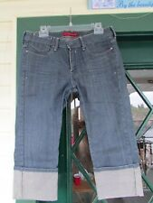 "LEVIS 582-36""WAIST(16?)RIGID MEDIUM BLUE VINTAGE SKINNY DENIM JEAN CAPRIS"