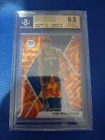 New Orleans Pelicans Zion Williamson Mosaic Orange Reactive Graded BGS 9.5