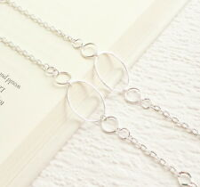 Silver Eyeglass Chain, Silver Glasses Necklace Holder Lanyard, Glasses Chain