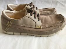 Crocs Stretch Your Sole Tan Beige Men's Loafers Casual Shoes Size 10 EUC!
