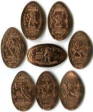 Super Rare Tokyo Disneyland Monthly Design Change 8 Retired Copper Pressed Coins