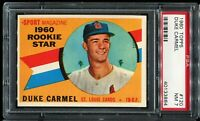1960 Topps Baseball #120 DUKE CARMEL St Louis Cardinals Rookie Star PSA 7 NM