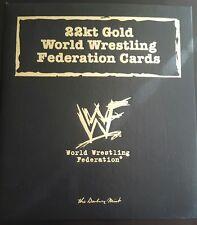 WWF DANBURY MINT 22K GOLD WORLD WRESTLING FEDERATION CARDS