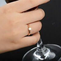 Damen Silber Ring Gold Zirkonia Silberring Damenring Verlobungsring Goldring