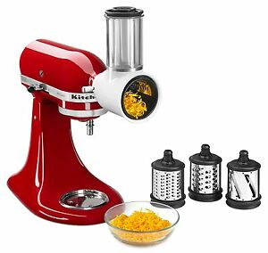KitchenAid RKSMVSA Fresh Prep Slicer Shredder Attachment Culinary Food Pusher