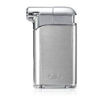 New Colibri Pacific Air Pipe Lighter Soft Flame in Chrome & Brushed Chrome