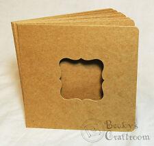 "5.5""x5.75"" Mini Chipboard Album 10 pages unbound w/ 2.25"" ornate frame window"