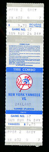 MARK MCGWIRE 1ST MAJOR LEAGUE HIT RUN AND RBI TICKET 8/24/1986 vs NY YANKEES