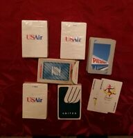 Vintage Airline Playing Cards Lot of 5 United Peidmont US Air