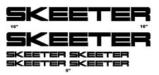 Skeeter Large Boats Decal Set 6 Stickers Bass Rapala Windshield Bumper Fishing