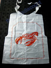 Lobster Seafood Crab Clambake Bibs – Set of 12 – One Size Fits All
